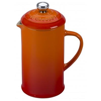 Koffiepot met pers 300ml Oranjerood Le Creuset