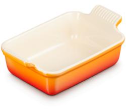 Aardewerken rechthoekige ovenschaal in Oranje-rood 19cm 1,08l Le Creuset