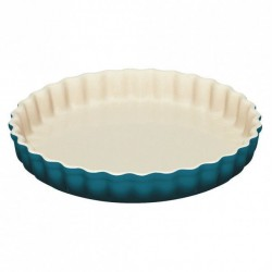 Aardewerken taartvorm Deep Teal 28cm  Le Creuset