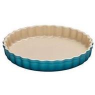 Aardewerken taartvorm Caribbean Blue 28cm