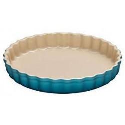 Aardewerken taartvorm Caribbean Blue 28cm  Le Creuset