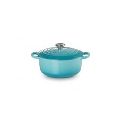 Gietijzeren ronde braadpan in Caribbean Blue 20cm 2,4l  Le Creuset