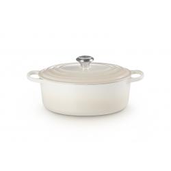 Gietijzeren ovale braadpan in Meringue 29cm 4,7l  Le Creuset