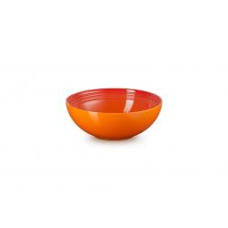 Aardewerken saladeschaal in Oranjerood 24cm  Le Creuset
