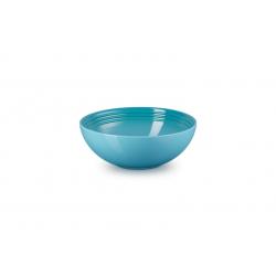 Aardewerken saladeschaal in Caribbean Blue 24cm  Le Creuset