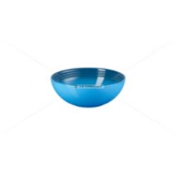 Aardewerken saladeschaal in Marseilleblauw 24cm  Le Creuset