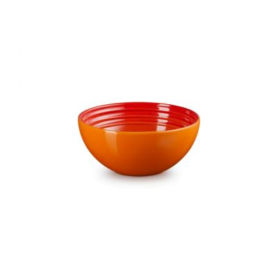 Aardewerken snackschaaltje in Oranjerood 12cm