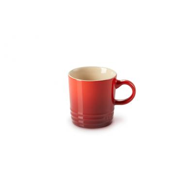 Aardewerken espressokopje in Kersenrood 100ml