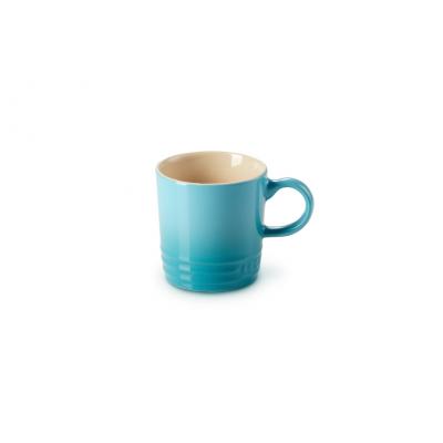 Aardewerken espressokopje in Caribbean Blue 100ml