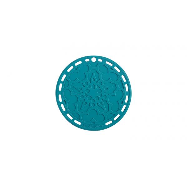 Le Creuset Potonderzetter Silicone onderzetter in Caribbean Blue 20cm