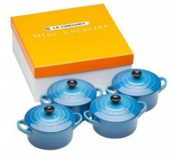 Aardewerken mini braadpan set in Marseilleblauw 10cm 0,25l Le Creuset