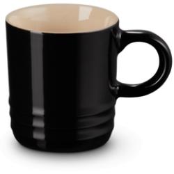 Aardewerken espressokopje in Ebbenzwart 100ml