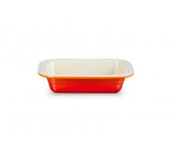 Classic Rechthoekige Ovenschaal met brede rand Oranjerood Le Creuset