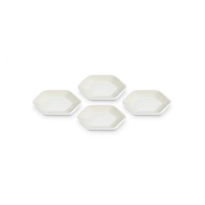 Hexagon serveerschaaltjes Meringue (4 stuks)