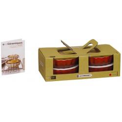 Set van 4 taartvormen 11cm Kersenrood