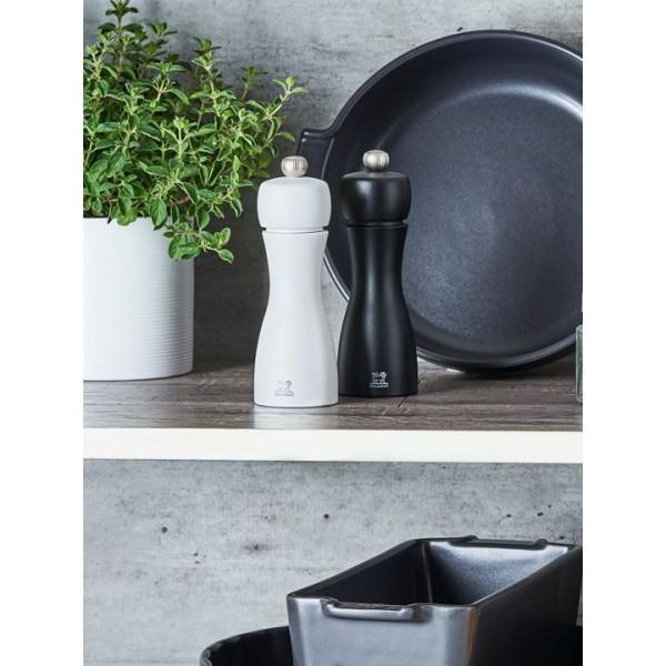 Peugeot Peper en zout sets Tahiti Duo 15cm zwart/wit