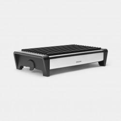 Schotelwarmer 2 kaarsjes Matt Steel 35,7x18,8x8cm