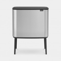 Bo Touch Bin 11+23L Matt Steel Fingerprint Proof  Brabantia