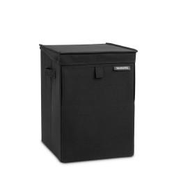 Wasbox Stapelbaar 35L Zwart