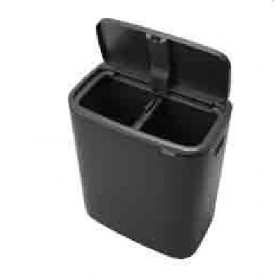 Bo Touch Bin 2 x 30 liter 221484 Zwart
