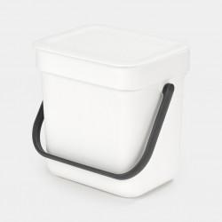 Sort & Go Afvalemmer 3L White