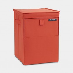 Stapelbare wasbox 35 liter Warm Red