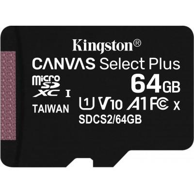Mémoire Flash Canvas Select Plus micSDXC 64 Go Kingston
