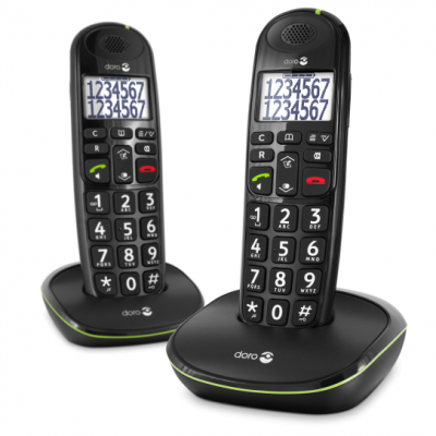 PhoneEasy 110 Duo Zwart Doro