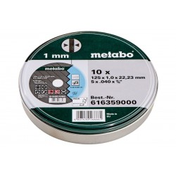 10 doorslijpschijven SP 125x1,0x22,23 Inox, TF 41 Metabo