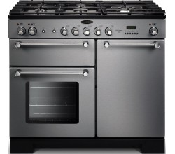 Kitchener 100 Dual Fuel Stainless Steel/ Chroom Falcon