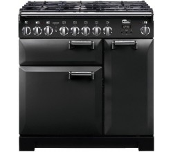Leckford Deluxe 90 Dual Fuel Charcoal Black Falcon