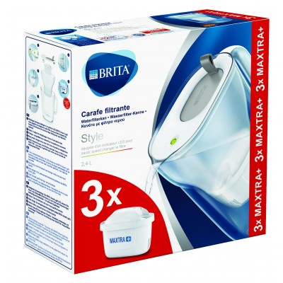 Pack promo Style Cool grey + 3 cartouches MAXTRA+ Brita