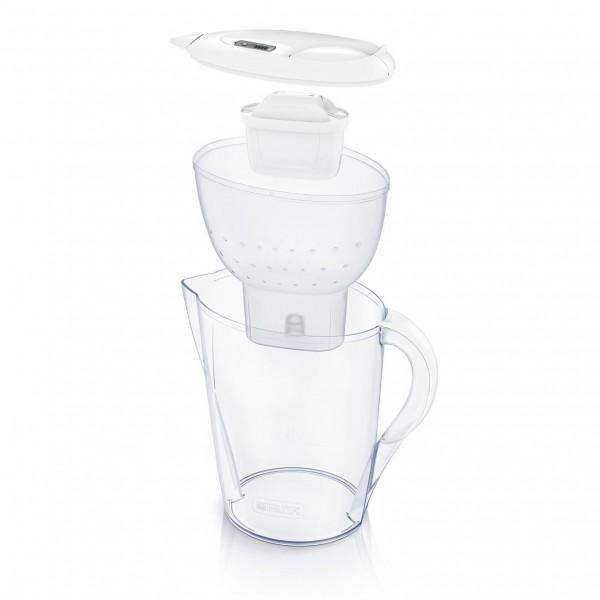 Waterfilterbundel Marella Cool white + 12 MAXTRA+ filterpatronen Brita