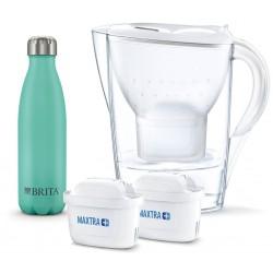 Waterfilterkan Marella Cool White 1,4l +2 Filterpatronen - GRATIS Waterfles Brita