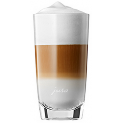 Latte macchiato glas 2 stuks 15cm Jura
