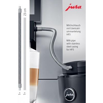 Tuyau de lait à gaine inox HP3 Jura