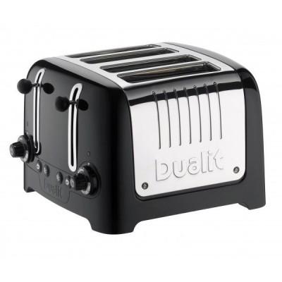 Toaster Lite 4slot bagel & defrost gloss black Dualit