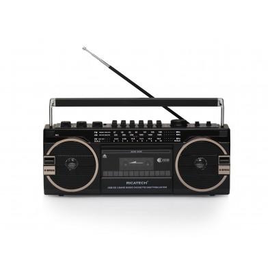 PR1980 Ghettoblaster 80's radio Cass.USB SD 2x8W