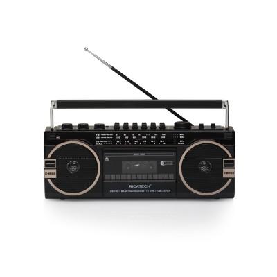 PR1980 Ghettoblaster 80's radio Cass.USB SD 2x8W Ricatech