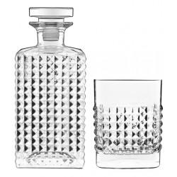 Whiskyset met Karaf 0,75l en 4 Whiskyglazen 38cl Elixir