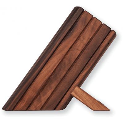 Messenblok Walnotenhout voor 8 messen
