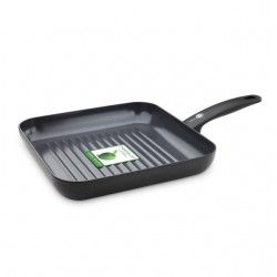 Cambridge Black/Black vierkante grill 28cm  GreenPan