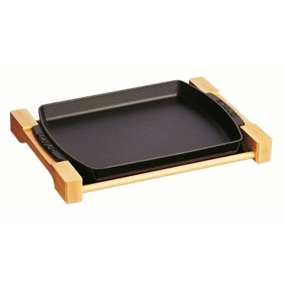 Houten bord 33x23cm Zwart