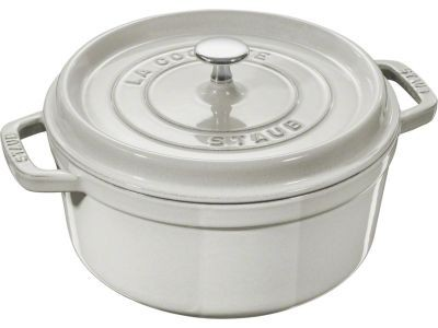 Ronde cocotte 24cm Witte truffel