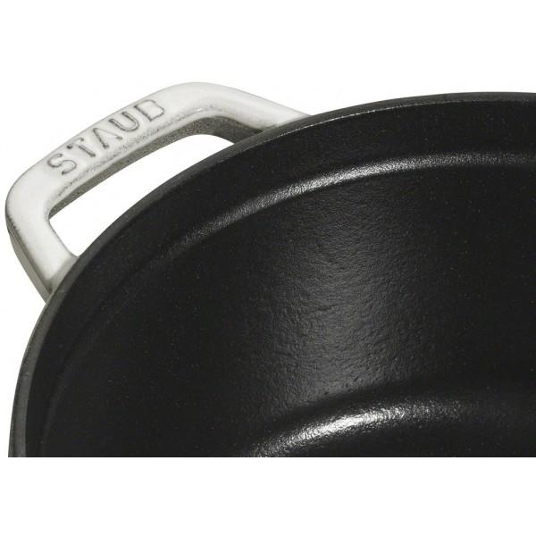 Staub Kookpotten Ronde cocotte 28cm Witte truffel