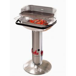 Loewy 55 houtskoolbarbecue metaalkleur uit rvs Barbecook
