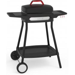 Alexia 5111 elektrische barbecue met zijtafels en wielen zwart 84x55x97cm