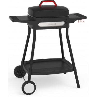 Alexia 5111 elektrische barbecue met zijtafels en wielen zwart 84x55x97cm  Barbecook