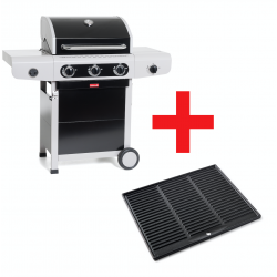 Siesta 310 Black Edition gasbarbecue met plancha 124x56x118cm Barbecook