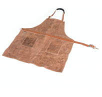 schort uit koeleder bruin 76x85cm